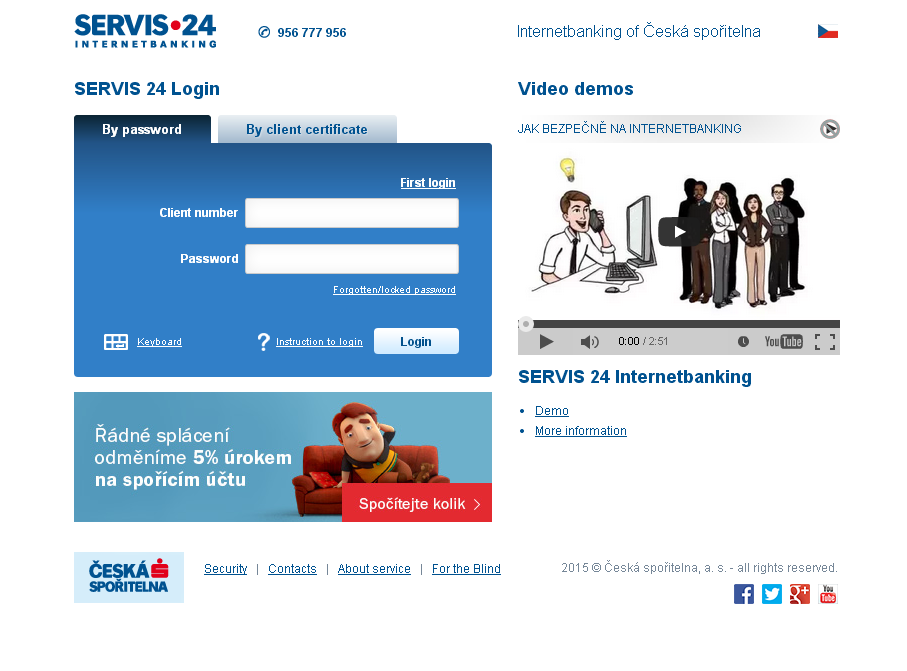 Internetové bankovnictví Servis 24