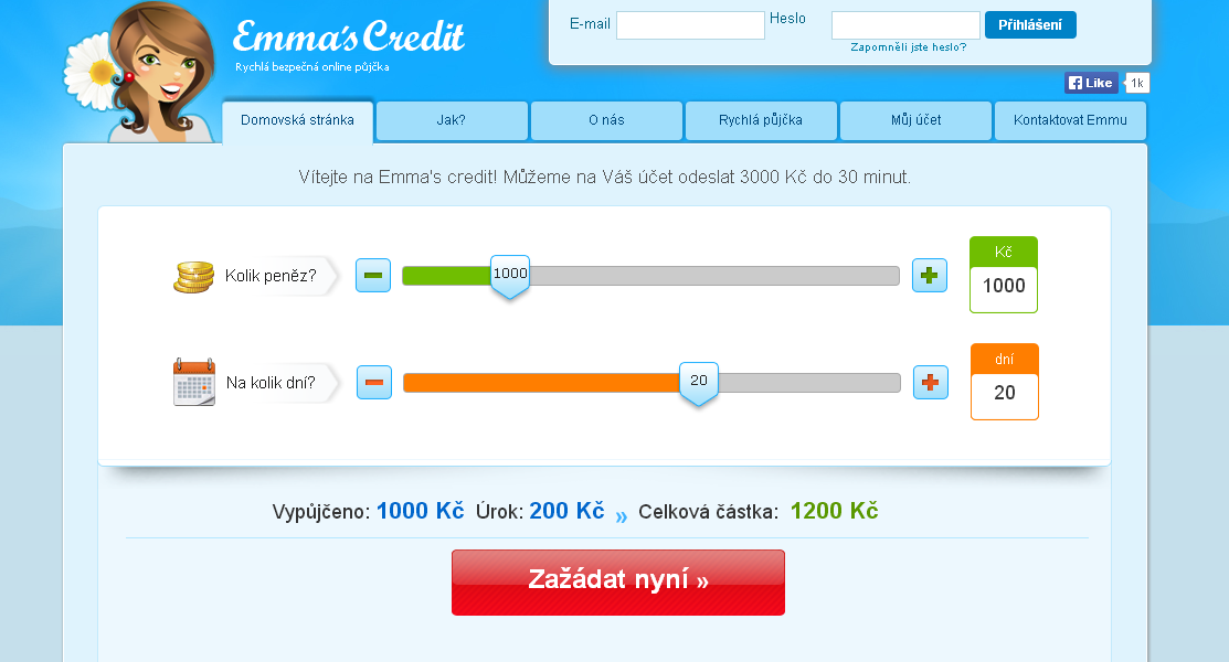 Emas Credit půjčka do 3000 Kč