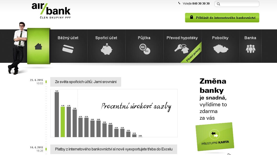 Air Bank - bankoní kód 3030
